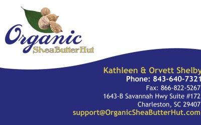 Organic Shea Butter Hut Business Card Design