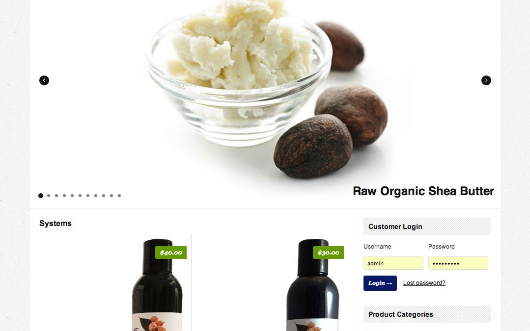 New Website for Organic Shea Butter Hut