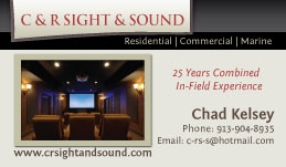 New Business Cards for C&R Sight and Sound!