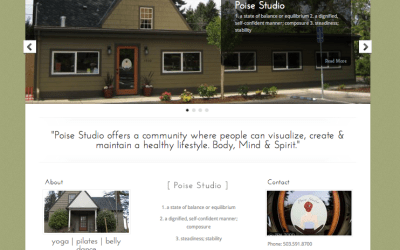 New Website for Poise Studio!