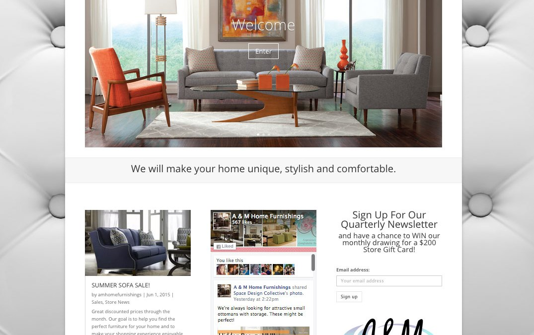 New Website For A M Home Furnishings In Overland Park