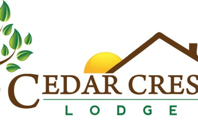 New Logo for Cedar Crest Lodge in Pleasanton, KS