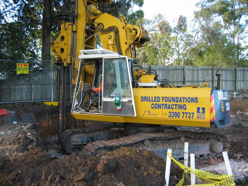 Bauer BG9 Drilling Rig - Piled Foundations