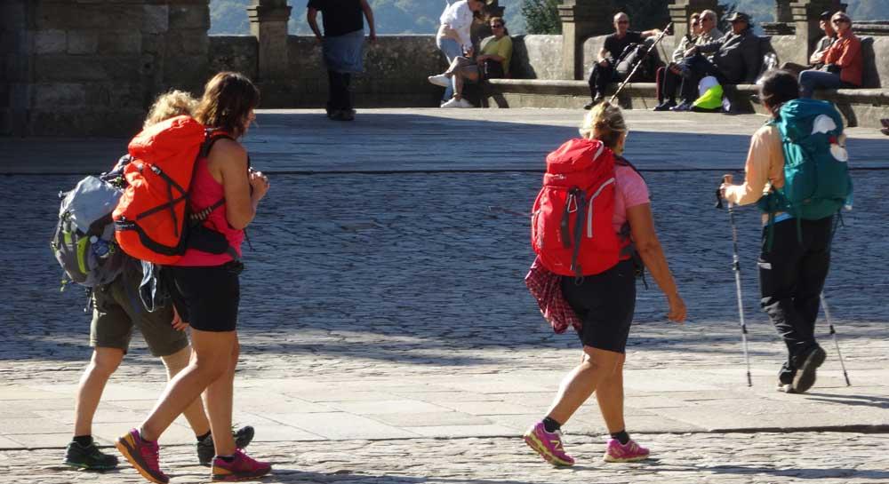 Pilgerinnen in Santiago - Pilgergottesdienst