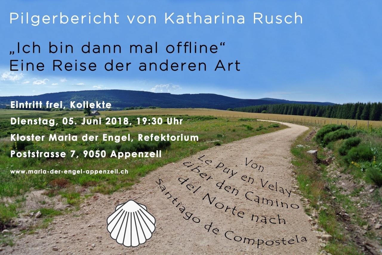 Flyer Pilgerbericht Katharina Rusch