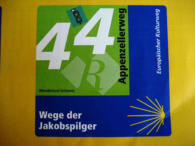 Signalisation Appenzell Jakobsweg