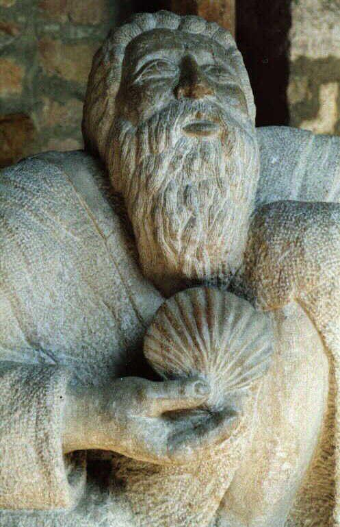 Pilgerskulptur in Tournus