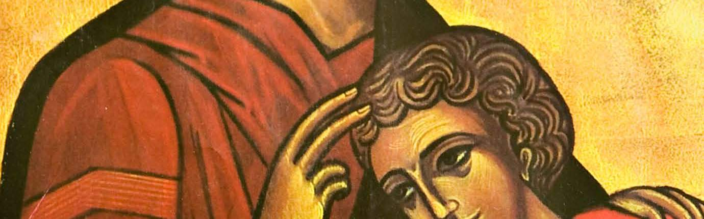 Christ and the Beloved Disciple icon