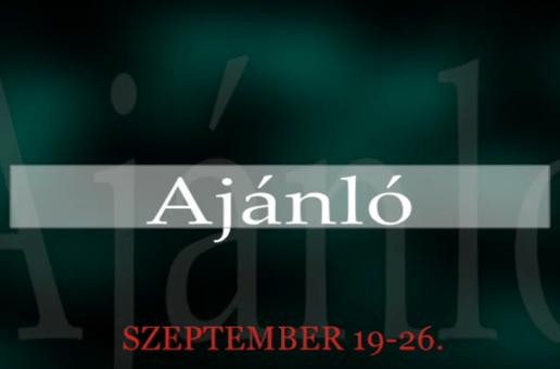 Műsoraink szeptember 19-26.