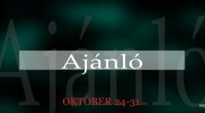Műsoraink október 24-31.