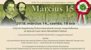 Március 15-i megemlékezés Solymáron