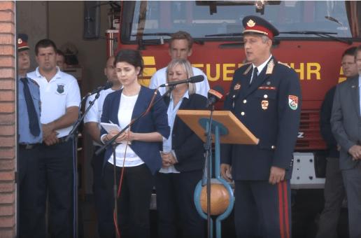 A solymári tűzoltószertár ünnepélyes átadása