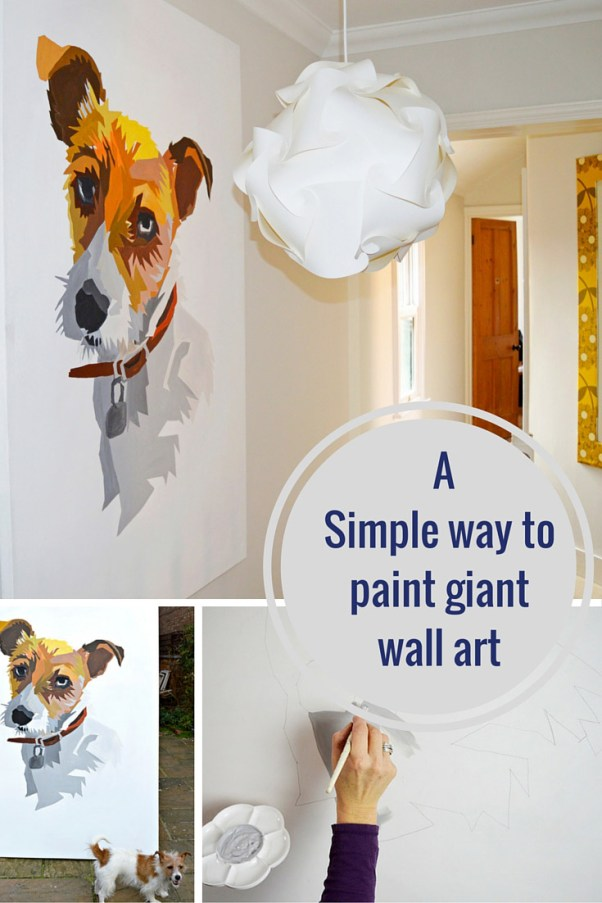 easy to paint giant wall art