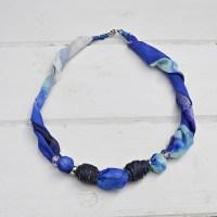 DIY Jewelry - Upcycled Silk Scarf Necklace