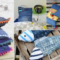 All the Best Ideas for Making Denim Pillows (Cushions)