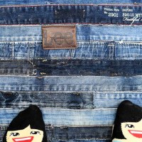 How To Make A Cool Denim Rug Without Sewing