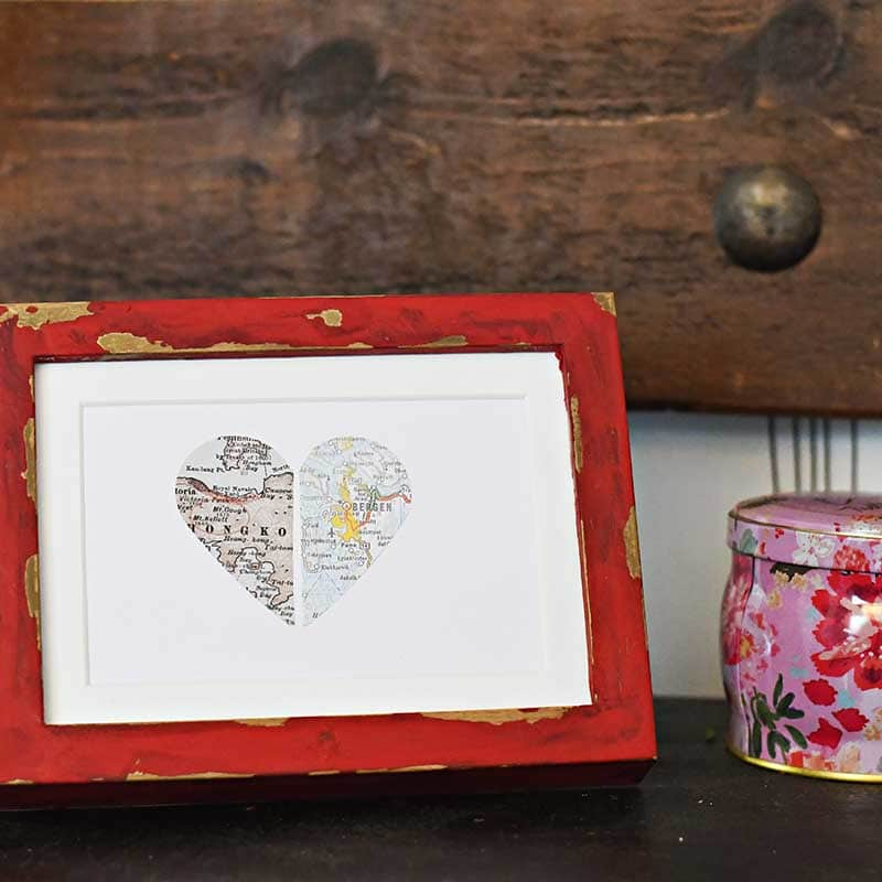 Personalized Map Gift For Valentines Craft Gossip