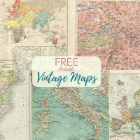 Wonderful Free Printable Vintage Maps To Download
