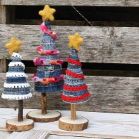 Easy To Make Unique Denim DIY Christmas Tree