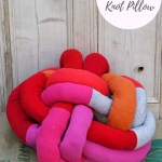 How To Make A Fun Diy Knot Pillow From Old Sweaters Pillar Box Blue