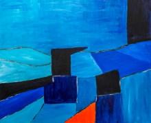 Composition en bleu