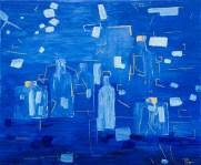 Les bouteilles bleues - acrylique