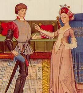 Un uomo e una donna del Medioevo