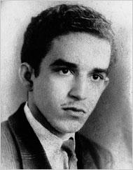 Immagine giovanile di Gabriel Garcia Marquez