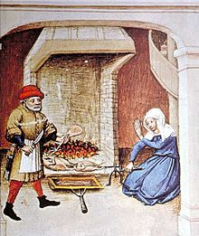 Eine typische italienische Küche des Mittelalters