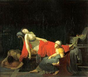 La muerte de Cleopatra en una pintura de J.B.Regnault (1796-97)