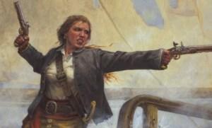 Anne Bonny, una delle più celebri piratesse della Storia,in un ritratto artistico