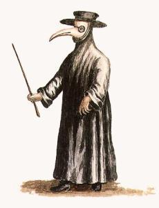 El médico de la peste negra (de prensa del siglo XVIII)
