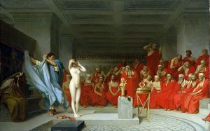 Frine resta nuda davanti ai giudici, Jean-Léon Gérome, 1861