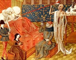 La plaga representado en una miniatura del siglo XV