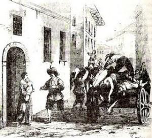 La peste en Milán de recién casados Promesi