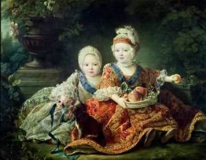 Louis XVI Baby-Porträt mit seinem jüngeren Bruder (Zukunft Louis XVIII)