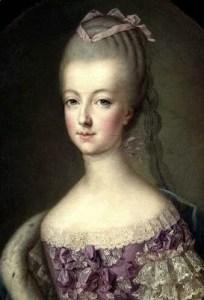 Retrato de María Antonieta. El mismo día de su nacimiento, un fuerte terremoto destruyó Lisboa