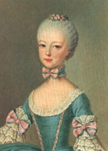 Retrato de una joven y hermosa María Antonieta
