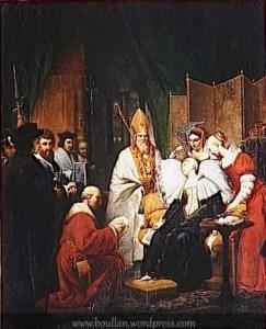 Anna Bolena ha un malore dopo la lettura della sentenza che la condanna al patibolo (Pierre Nolasque Bergeret, 1814, Parigi, Museo del Louvre)