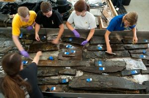 Experts are working to identify the remains of the ship found in New York