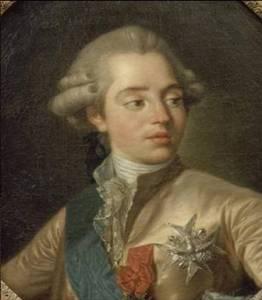 Ritratto del conte d'Artois, fratello minore di Luigi XVI