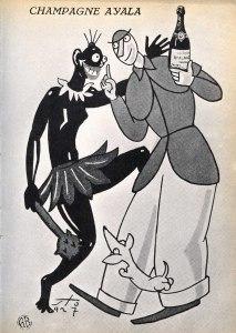 Pubblicità di una marca di champagne nel periodo fascista