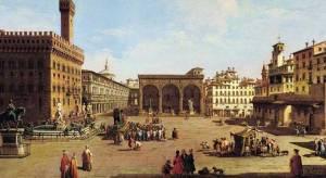 Florença na Idade Média. Os nomes das pessoas de muitas vezes referidos os Santos e a virtude