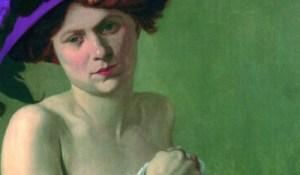 Una signora di inizio '900. Un naso importante si camuffava in vari modi