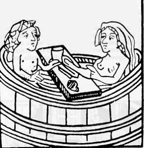 Un bagno nel Medioevo. Tra il Medioevo e il Rinascimento la cosmesi compì passi da gigante