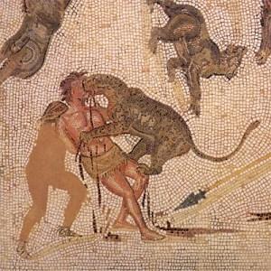 Pena di morte a Roma: damnatio ad bestias (mosaico)