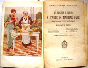 O livro de receitas por Pellegrino Artusi, a arte clássica da cozinha italiana