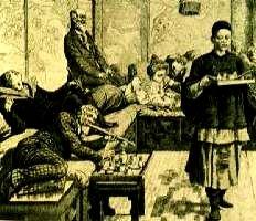 Opium den in Paris in 800