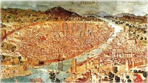 Florencia en 1500. La ciudad era un destino favorito, Renacimiento, de los más grandes artistas de la época