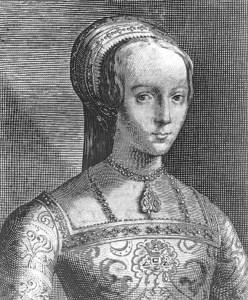 Retrato da senhora Jane Cinzento, decapitado apenas 16 idade